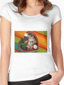 Bavarian Hearts  Women's Fitted Scoop T-Shirt
