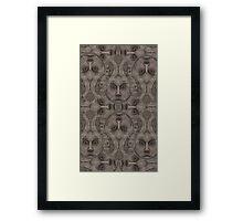 Satanic pattern Framed Print