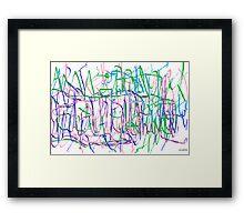 Word Salad Framed Print