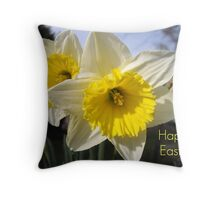 Easter Daffodils Throw Pillow