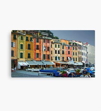 Portofino Marina Canvas Print