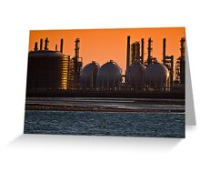 Oil stabilizers and receiving spheres Greeting Card