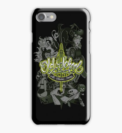Old School All Electric Tattoo iPhone Case/Skin