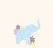 Paisley Elephant by eleanorrosehay
