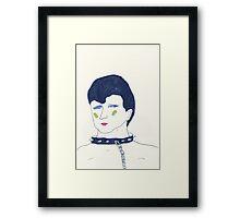 a collar Framed Print