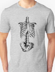 Sleleton drawing of ribs, torso and pelvis T-Shirt