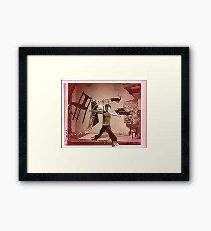 Girl Atomica Framed Print