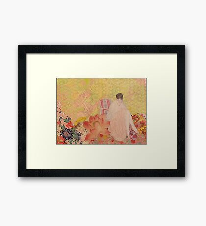 The Pink Slippers  Framed Print