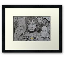 Frodo and crew Framed Print