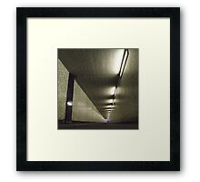 the underpass Framed Print