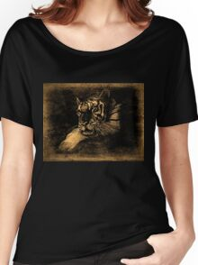 Tiger Vintage T-Shirt Women's Relaxed Fit T-Shirt