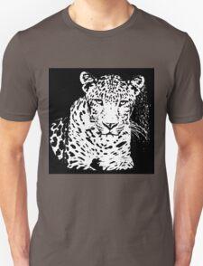 Leopard Black And White Portrait T-Shirt T-Shirt