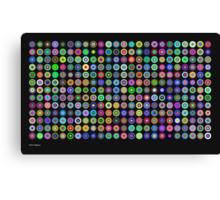 Chromatic Concentric Disc Grid Canvas Print