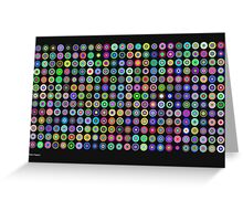 Chromatic Concentric Disc Grid Greeting Card