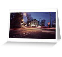 Morning Traffic (Snapseed) Greeting Card