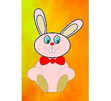 Easter Bunny Greetings Card Photographic Print