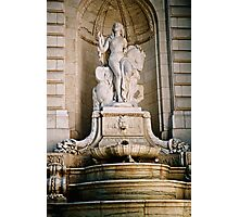 Fountain-NY Public Library Photographic Print