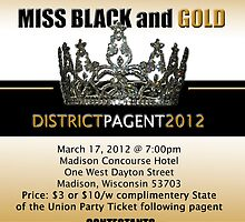 APA District 2012 Miss Blk &Gld Pagent flyer by slim6
