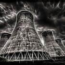 Eggbourgh Power Station, Fractalius. by Nigel Butterfield