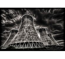 Eggbourgh Power Station, Fractalius. Photographic Print