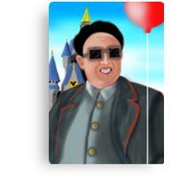 Kim Jong Il in Disneyland Canvas Print