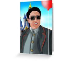 Kim Jong Il in Disneyland Greeting Card