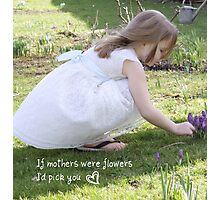 If mothers were flowers Photographic Print