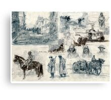 War drawings Canvas Print
