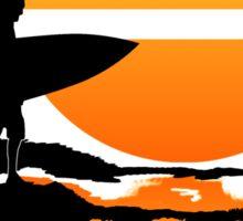 Surfing Sunrise Sticker