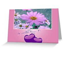 Pretty In Pink Daisies Greeting Card