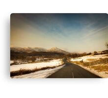 The Road to Torver Canvas Print