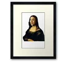 Nicolas Cage as the Mona Lisa Framed Print