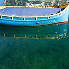 Crystal Clear Mediterranean Blue - Sea Boy at Anchor by Georgia Mizuleva