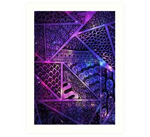 Space Triangle Art Print