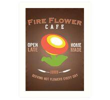 Fire Flower Cafe - Remix Art Print