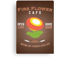 Fire Flower Cafe - Remix Canvas Print