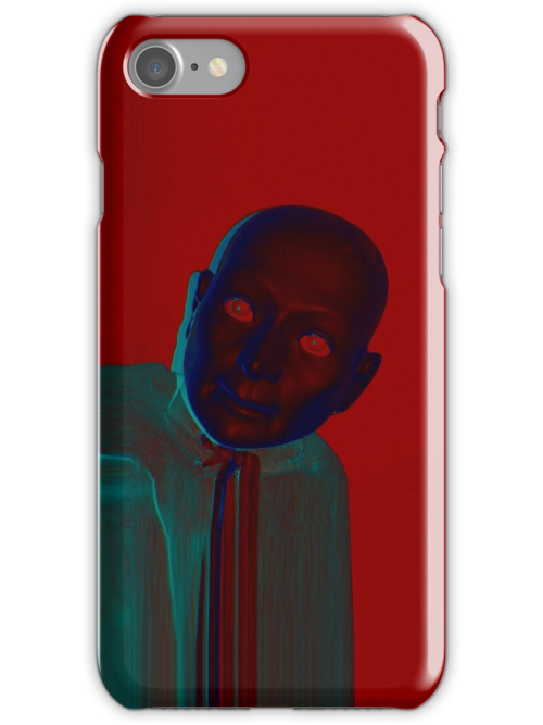 Hugo Man of a Thousand Faces iPhone red by Margaret Bryant
