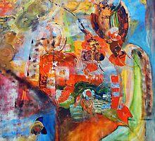 "DUO A 4 MAINS "" offrande d'amour "" par isabelle nivet et elsa keumurian by Isabelle Nivet"