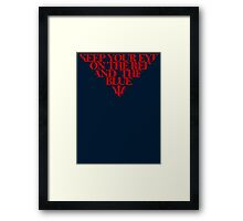 Melbourne Demons - The Red & the Blue Framed Print