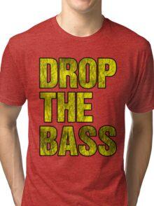 Drop The Bass (yellow) Tri-blend T-Shirt