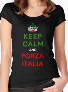 Keep Calm And Forza Italia Women's Fitted Scoop T-Shirt