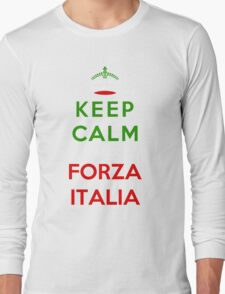 Keep Calm And Forza Italia Long Sleeve T-Shirt