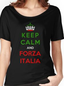 Keep Calm And Forza Italia Women's Relaxed Fit T-Shirt