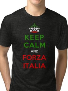Keep Calm And Forza Italia Tri-blend T-Shirt