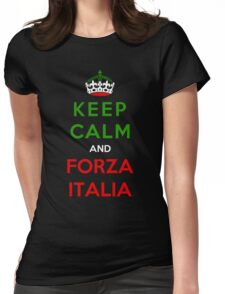 Keep Calm And Forza Italia Womens Fitted T-Shirt