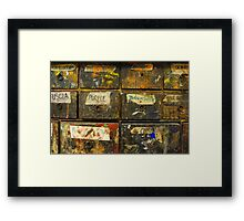 Drawers of Wonder Framed Print