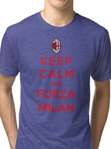 Keep Calm And Forza Milan Tri-blend T-Shirt
