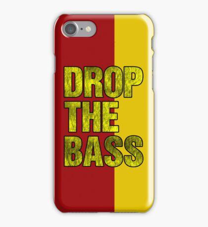 Drop The Bass (yellow) iPhone Case/Skin
