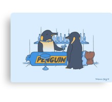 Penguin bar Canvas Print