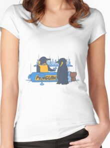 Penguin bar Women's Fitted Scoop T-Shirt